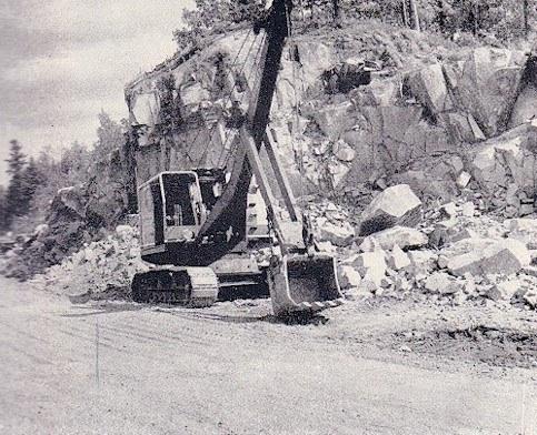 1949 -working on rockcut west side of Marmora Village
