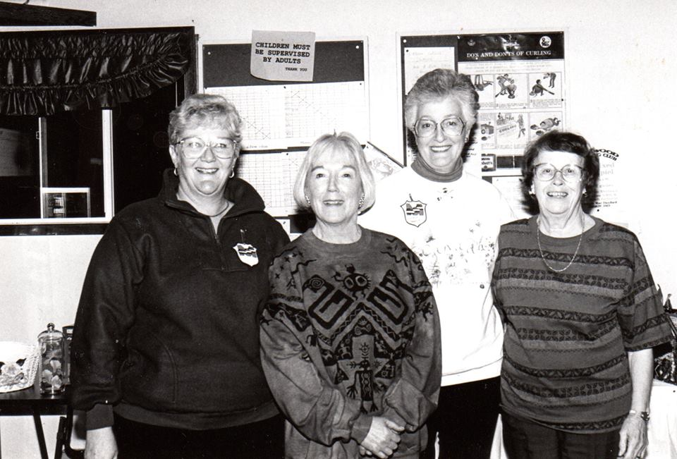 1995 Diane Braswell, Lucy Mumby, Barb Reynolds, Jeannette Moore, Marmora Curlers