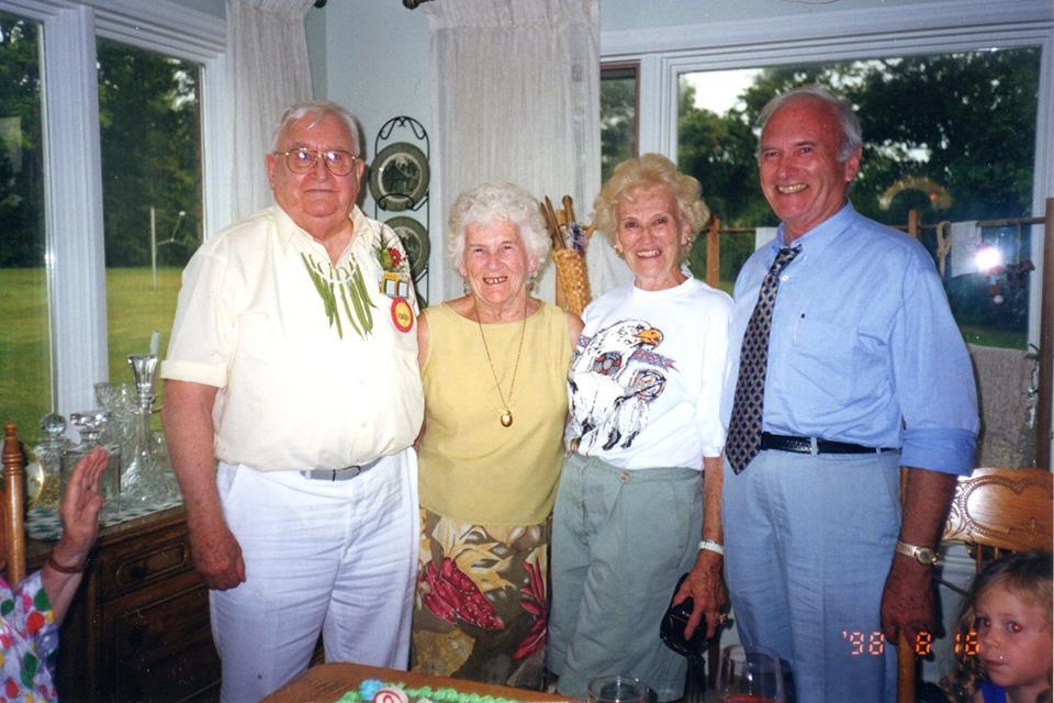 Breen O'Connor, sis Margaret Courneyea,Joan & br. Michael, 1998