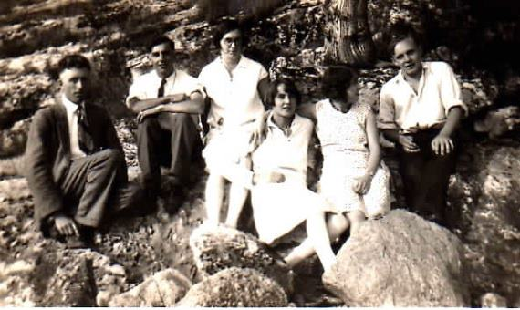 Charles Gallagher, Ab Campion, Myrtle (Gallagher) McCormack, Anna Crawford, Hazel Bonter, Mike Finnegan - early 1930s