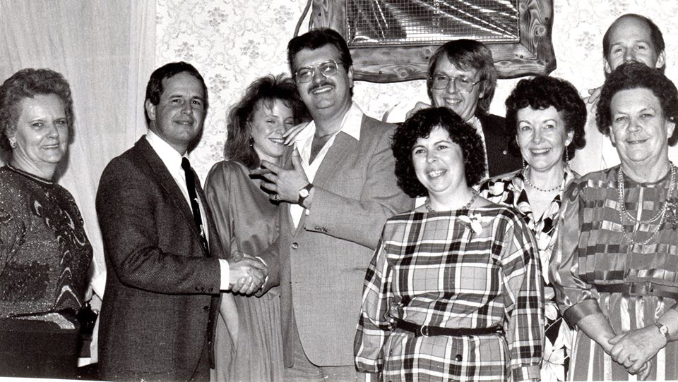 Community Press staff - Heather McGee, Alan Coxwell, -, John Logue (in back Larry Hurley, John Bennett), Brooke Wrightly, Wilma Bush, Annie Deen