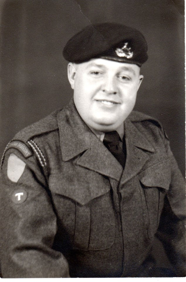 DJ Cousineau, irst posting to Europe in1944 war - he ended up posted in Egypt -