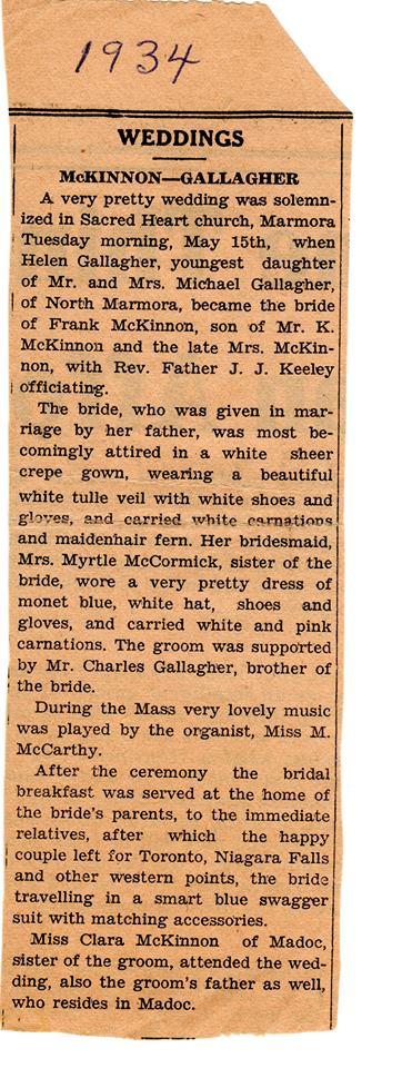 McKinnon-Gallagher wedding