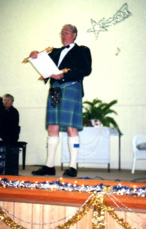Paul McIntyre, Town Crier, for Marmora Village's Millenium Celebration