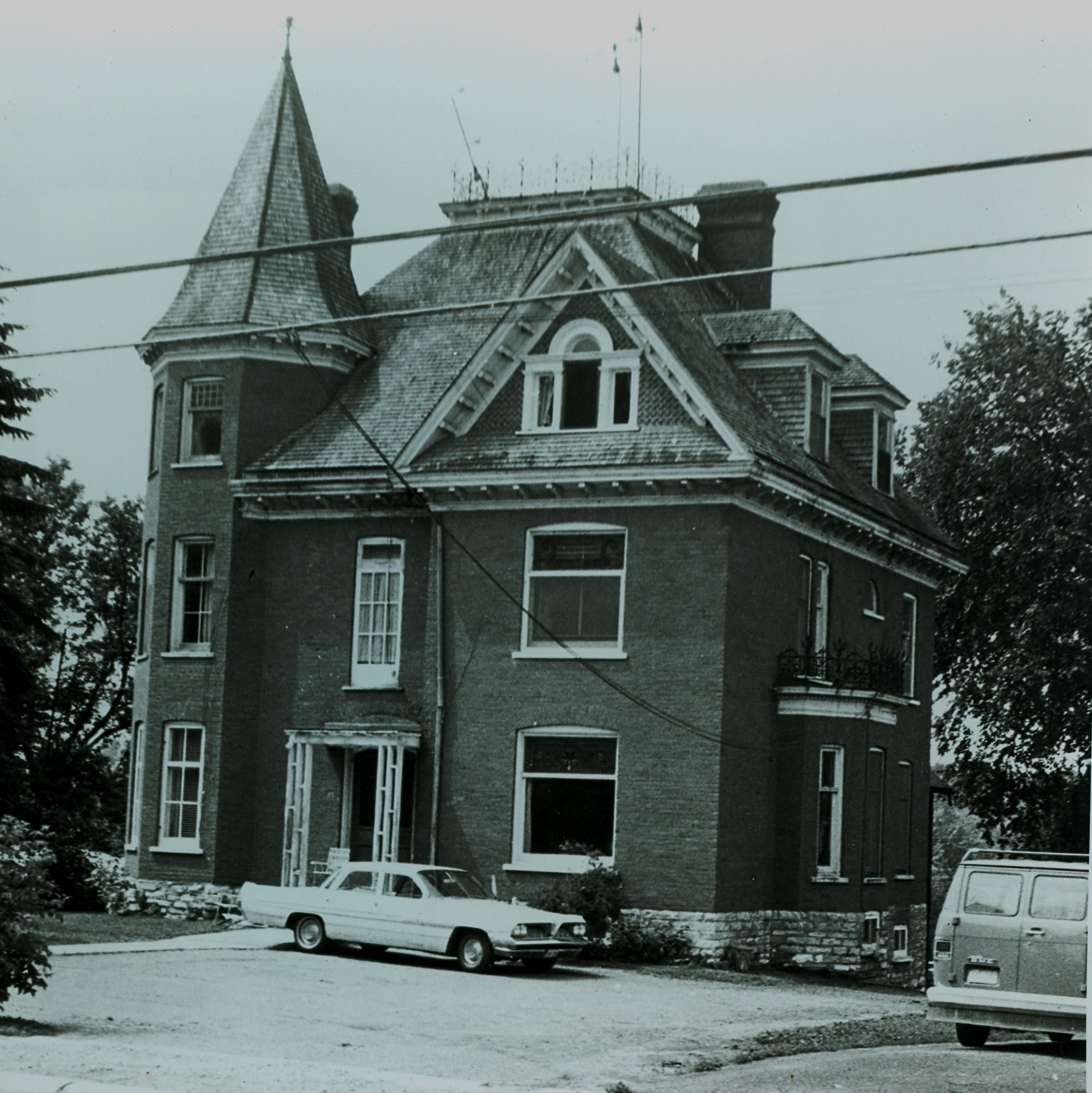Village of Marmora,  55 Forsyth Street,  Carscallen House and bank,  taken in 1971.jpg