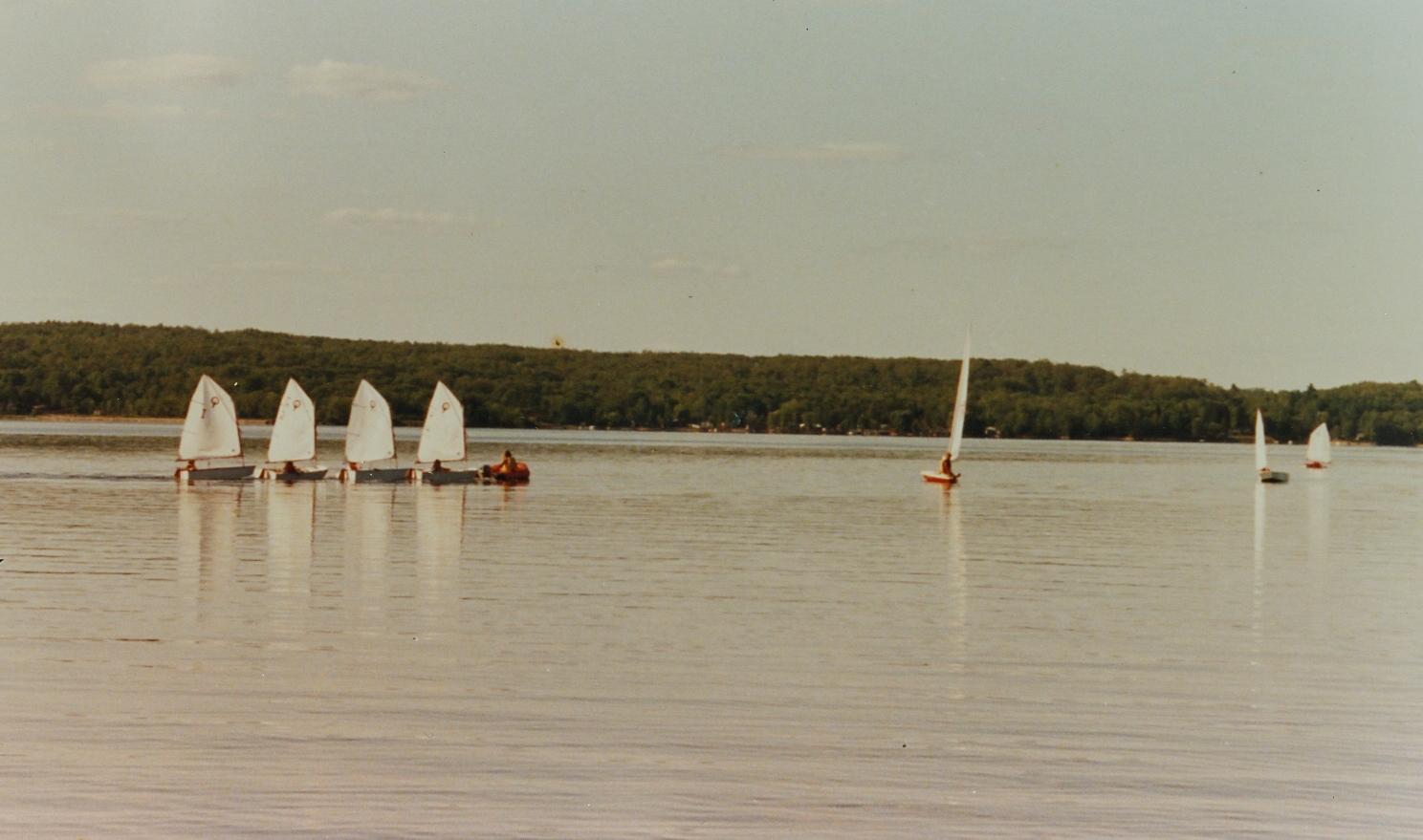 Crowe Lake sailing school,  Optimist program.jpg