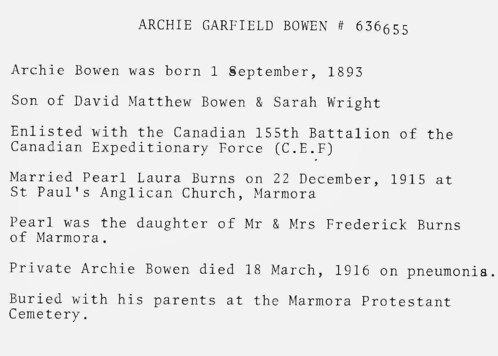 Veteran history Bowen,  Archie Garfield.jpg