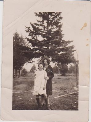 Myrtle Gifford & sister Dorothy Hynes - on James Rd., Marmora.