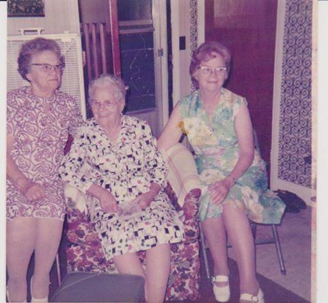 Phoebe Walker, Flossie Hinds & Leona Walker - sisters.