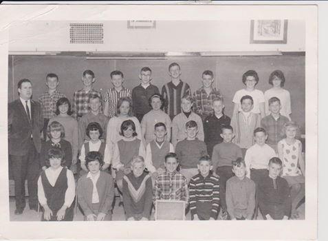 Jim Spry 's Grade 7 class. Teacher was Mr. Turpin.