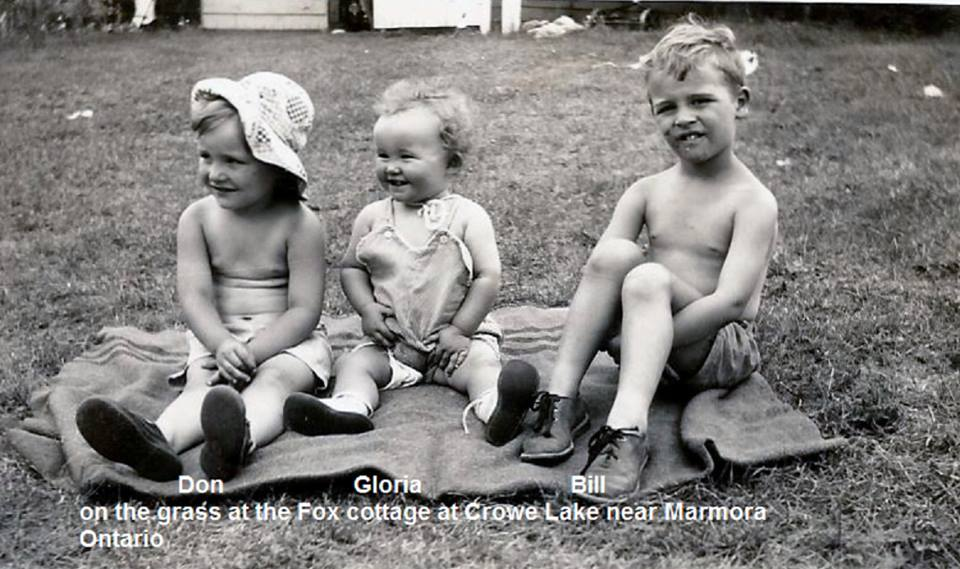 The Fox children at Cottage on Crowe Lake.jpg
