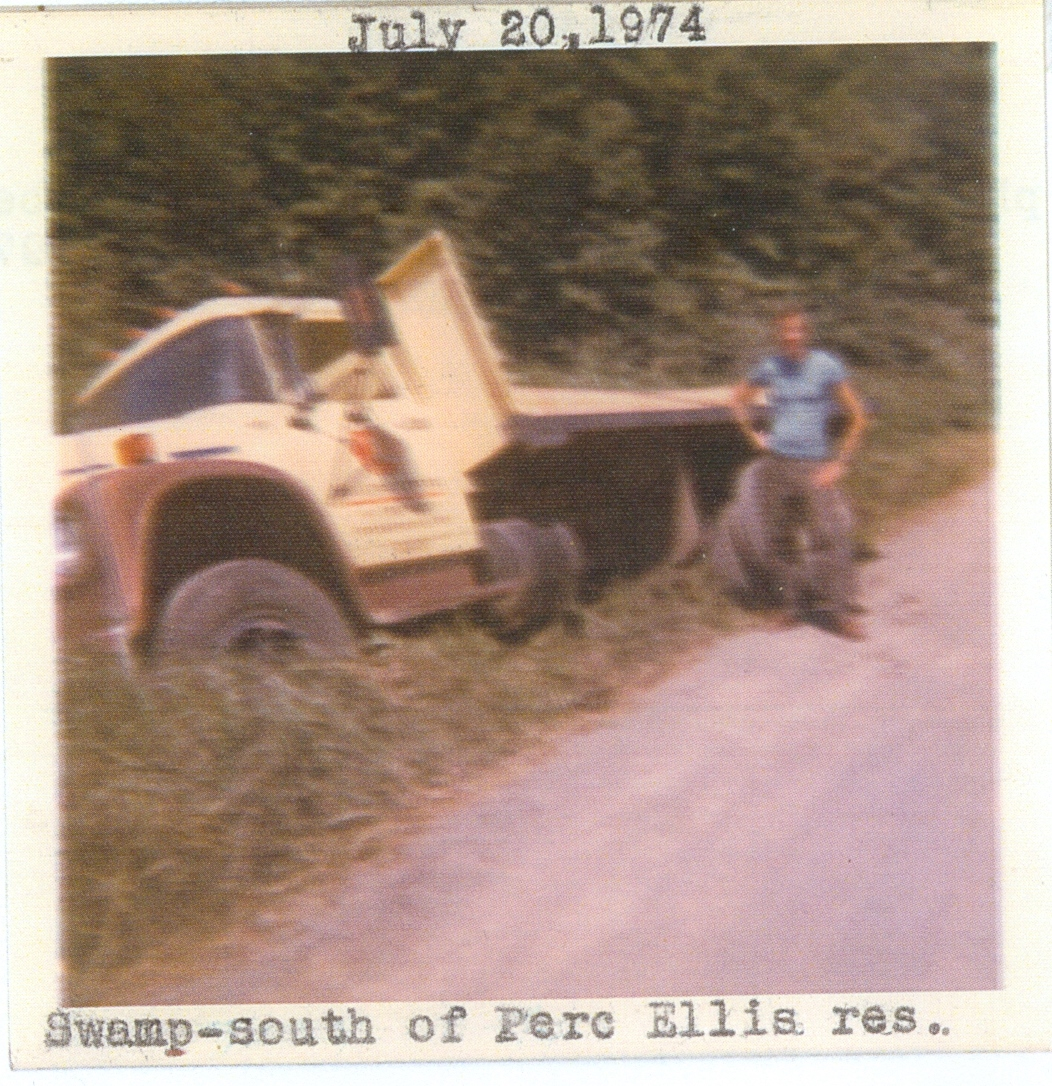 Vansickle  Mark Fehrenbach beside truck July 20, 1974.jpg