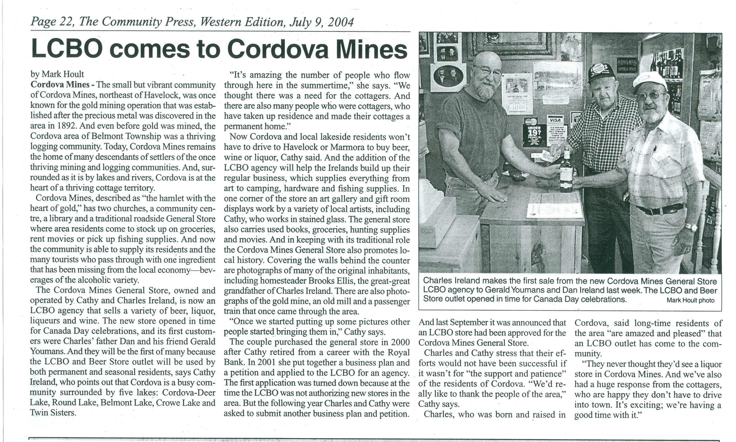Cordova General Store LCBO 2004 Charles Ireland.jpg