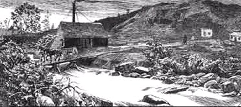 One of Malone's gold mines. (Nat. Lib. of Can.-Illustrated News)