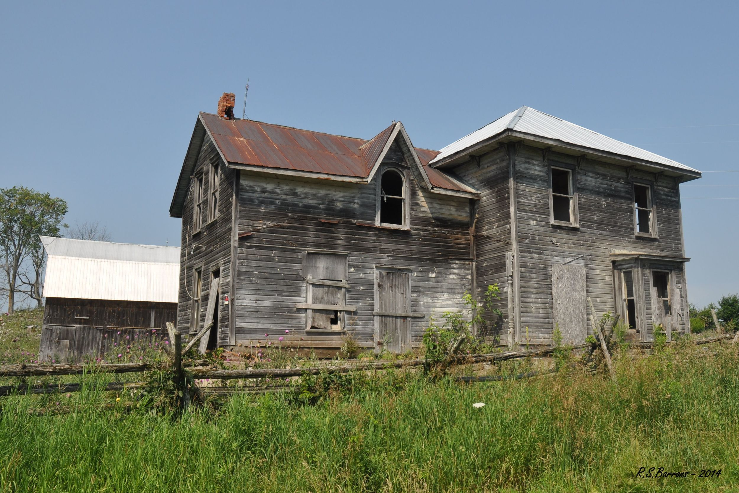 Ronald Barrons writes: My favourite abandoned place is the old Sopha house located at the end of the Vansickle road. I am not sure when the last person lived there, but seem to recall a Craig Sopha that may have lived there in 1950's. It remained in the Sopha family until just a few years ago.