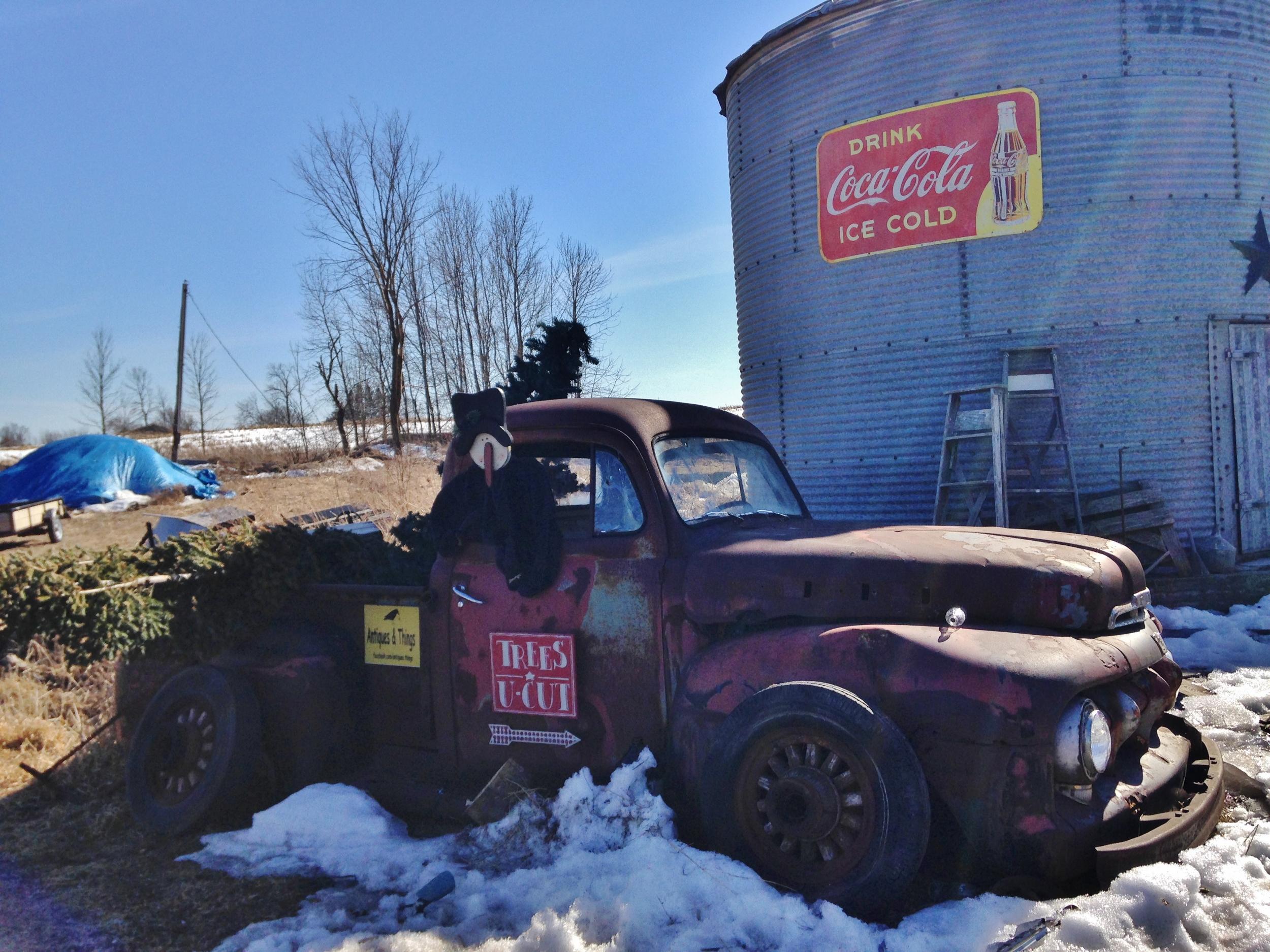 Dead Truck, centre line road, by Kristin Philpot