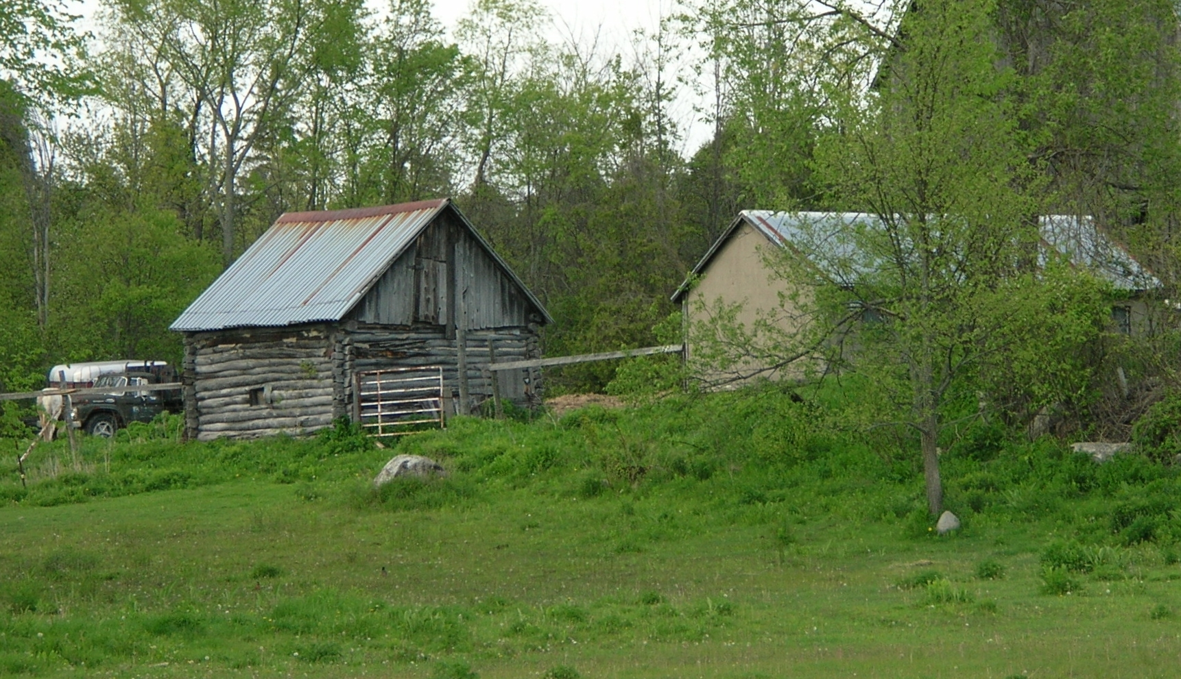 Old log out building, possibly old pigsty as seen from the Marmora KOA, 138 KOA Campground Road from May 2006 Sent by Ronald Barrons