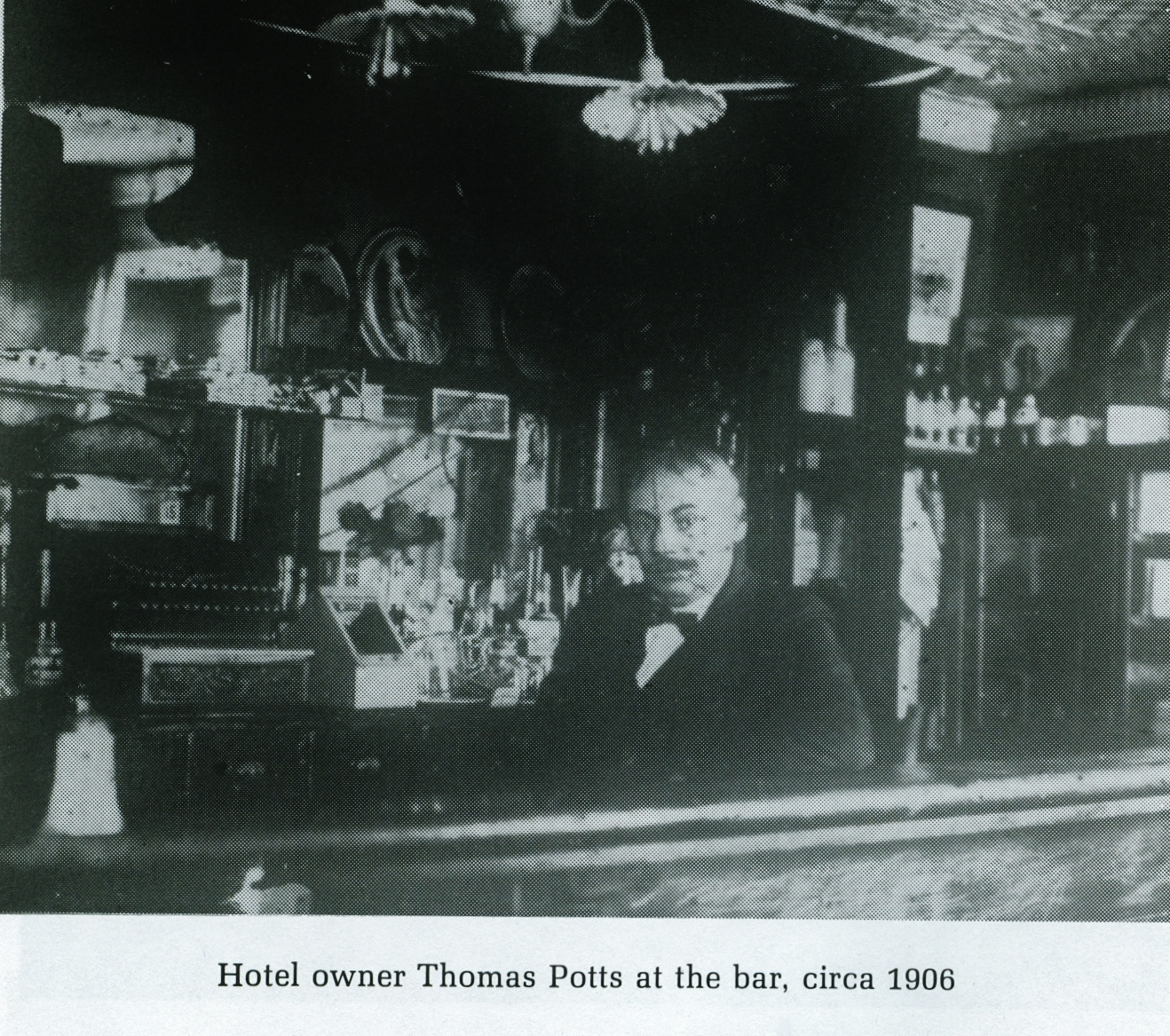 As a young man, Thomas Potts worked at Deloro Smelting and Refining Co. Ltd, and ran the boarding house for three years. He operated the old St. James Hotel,, the Royal Hotel in Marmora, the Tipperary House on Crowe Lake, and Huyck's Hotel in Tweed (Tweedsmuir). Mr. Potts was also the oldest member of the Loyal orange lodge at the time of his death in 1952.