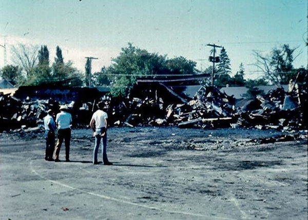The remains of the old IGA after the fire By Glen Mawer