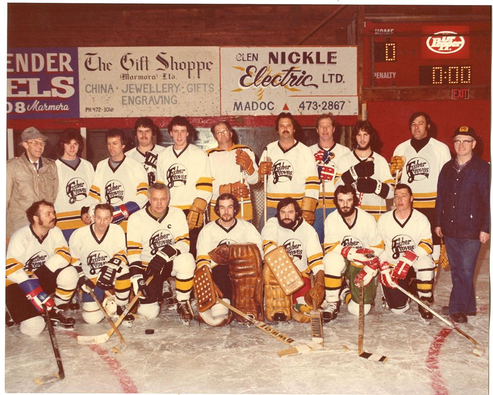 Old Fisher Stove Hockey Team