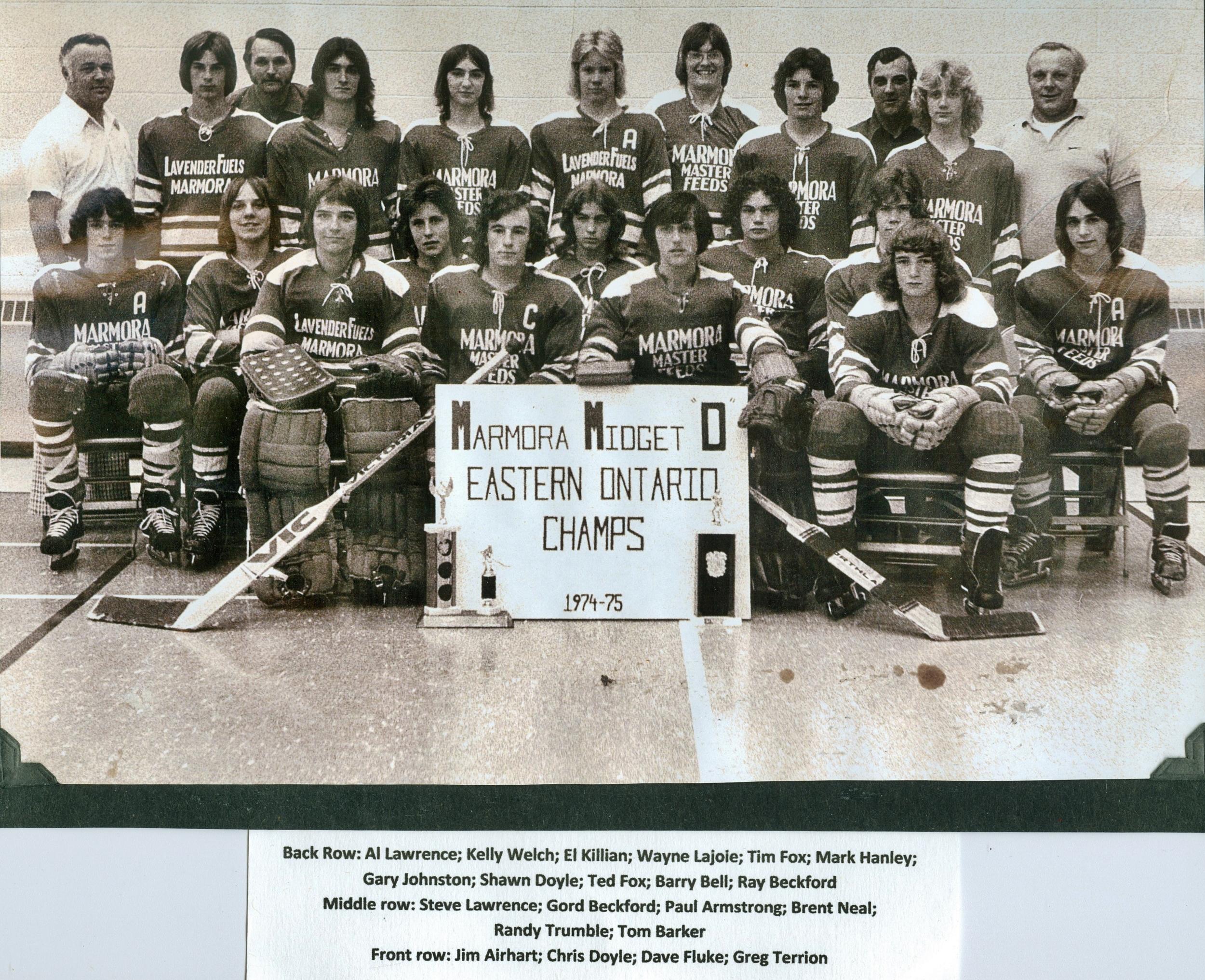 Hockey, Marmora Midget D Eastern Ontario Champs 1974-75.jpg