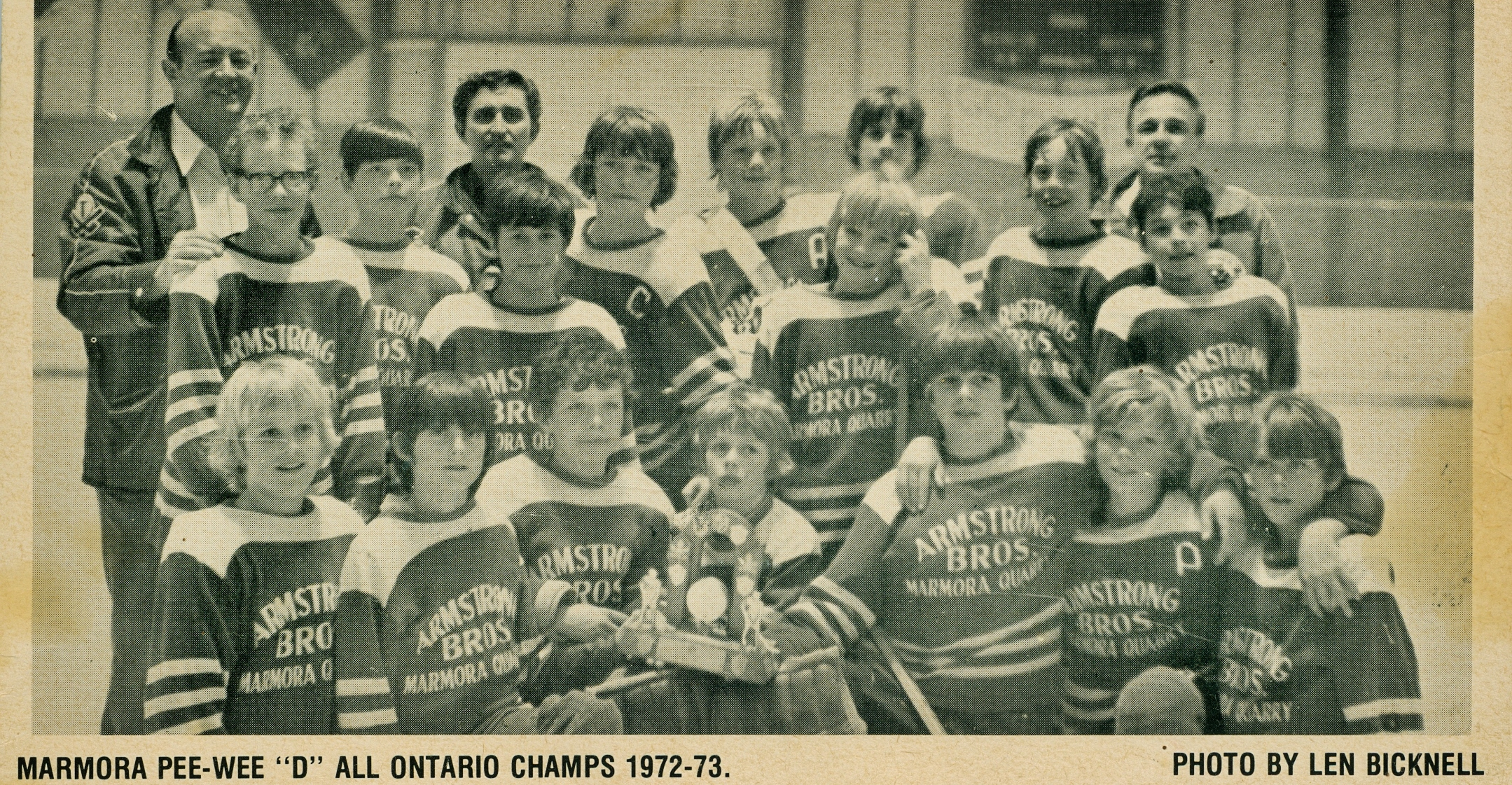 Pee Wee All Ontario Champs 1972-73