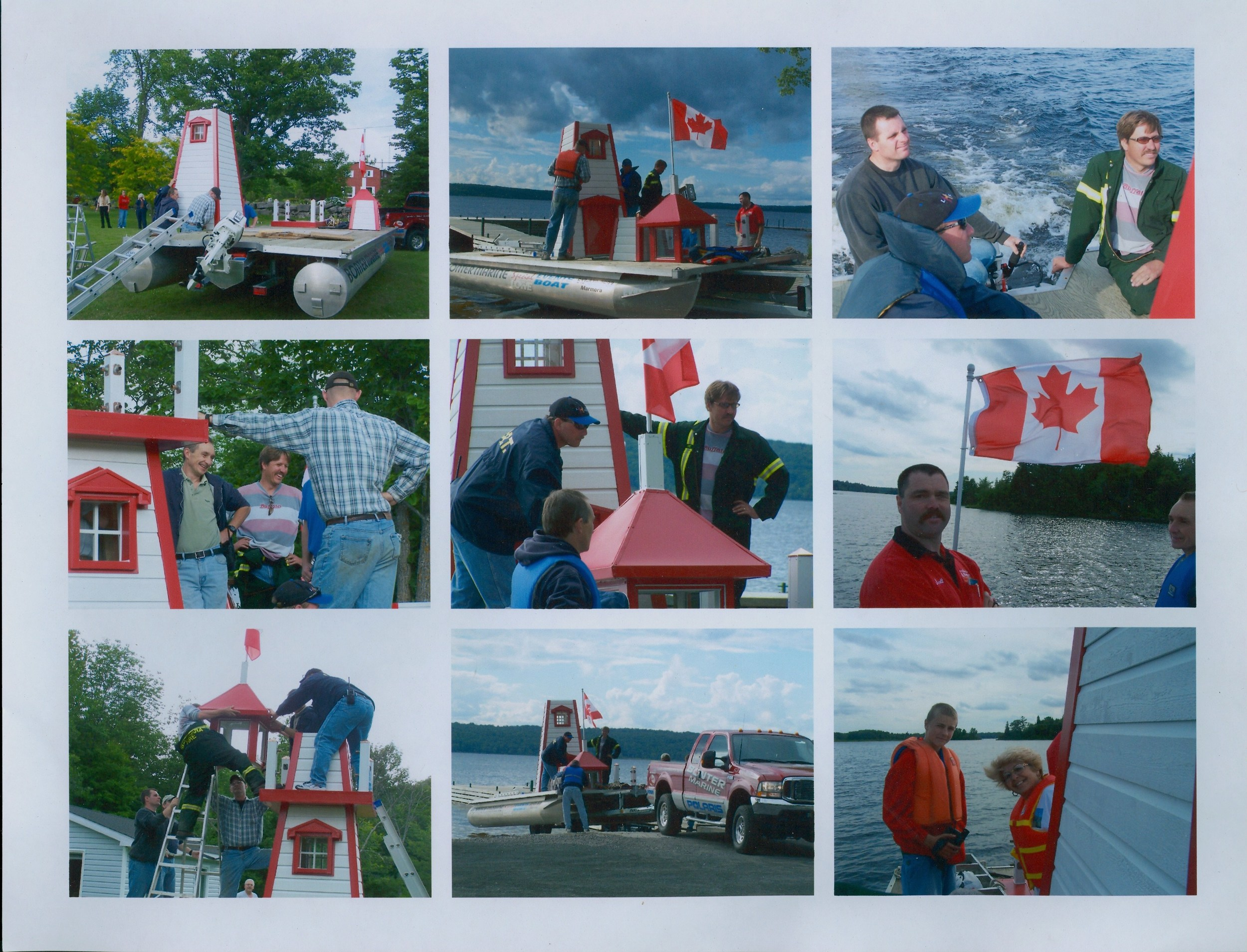 Blairton bay Erection of Lighthouse by Marmora Fire Department.jpg