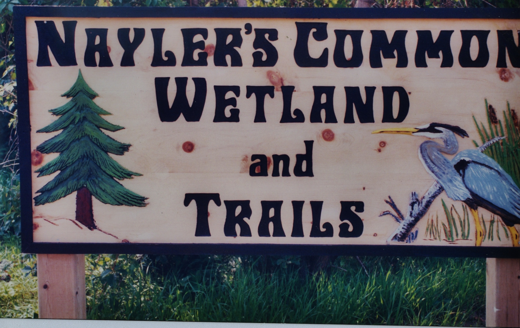 Nayler's Common  sign made by Clarence Logan, Havelock.jpg