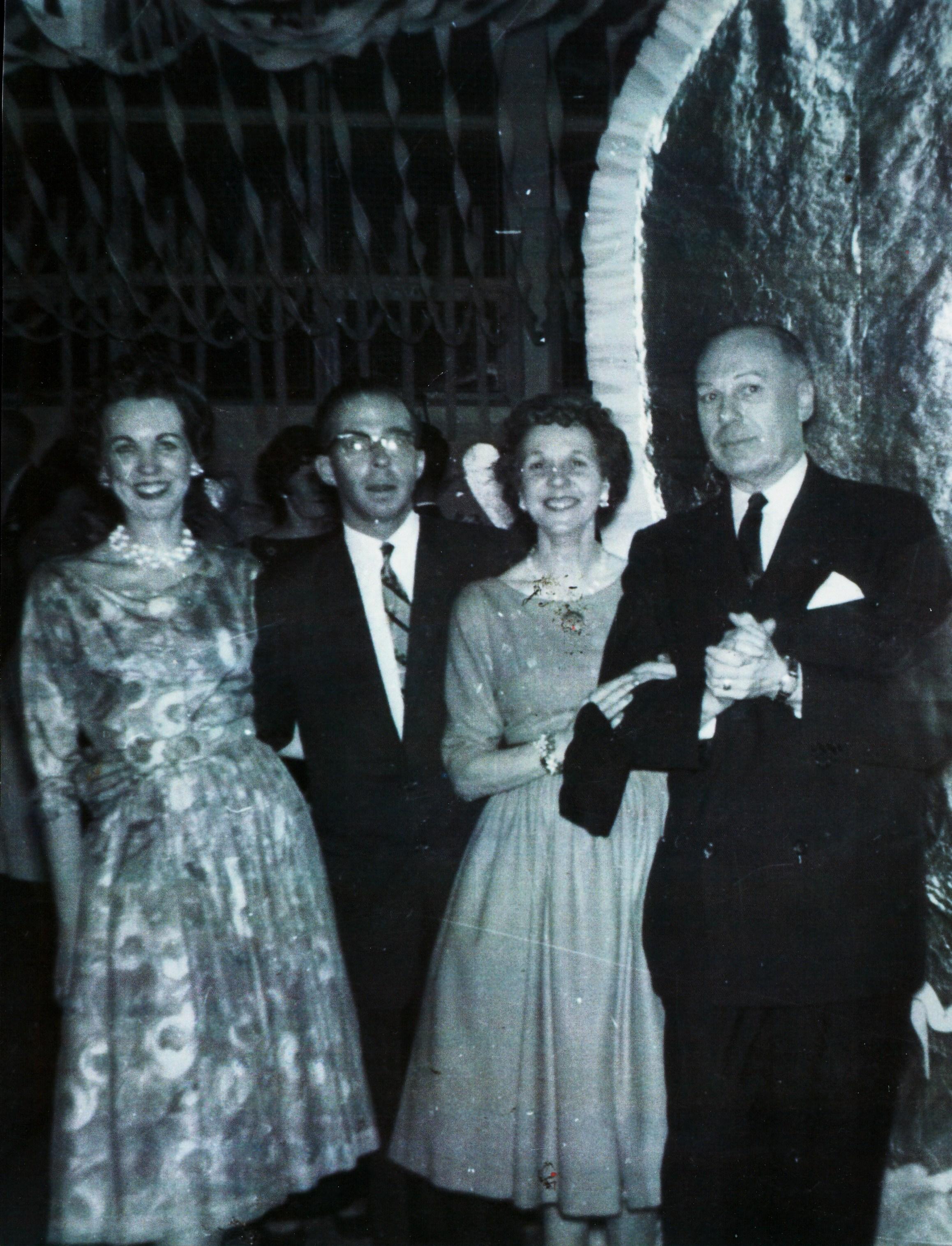1962 Chaparones at high school formal, Lois Shatford, Dr. Bob Shatford, Helen Jones, Sally Jones