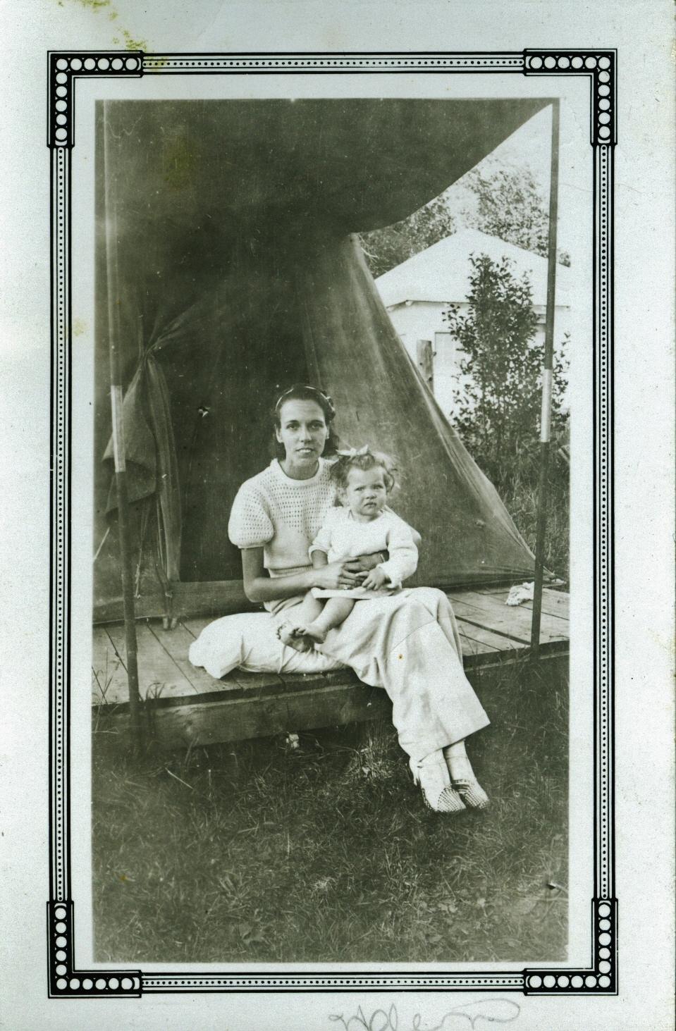 Helen Gaffney (Jones) and Sheilagh H. Corrigan, circa 1934 (Sheilagh was born in 1933