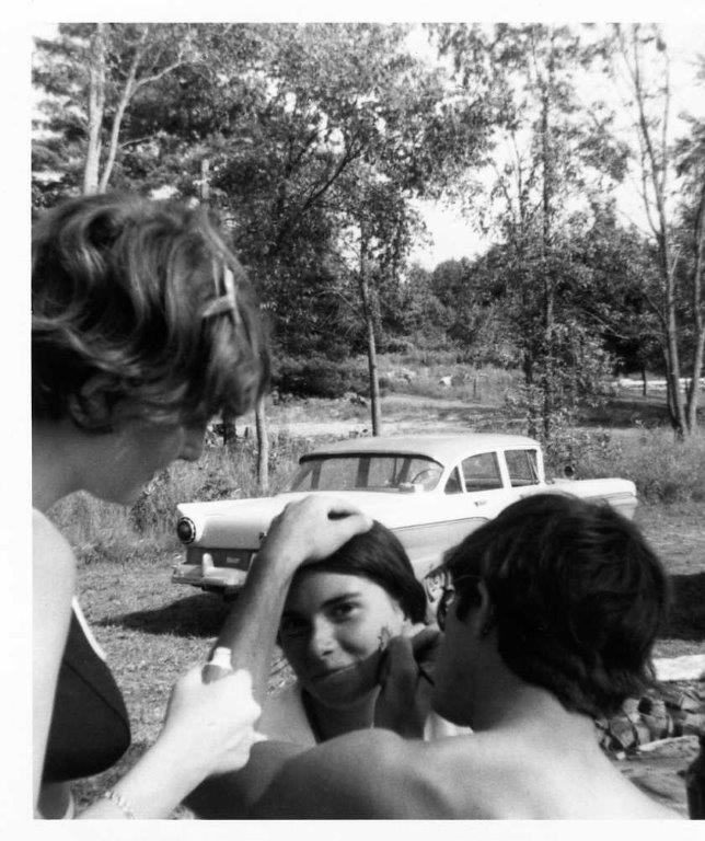 Jan Black,Ron Gray Sue McGregor looking .Booster Park, '68