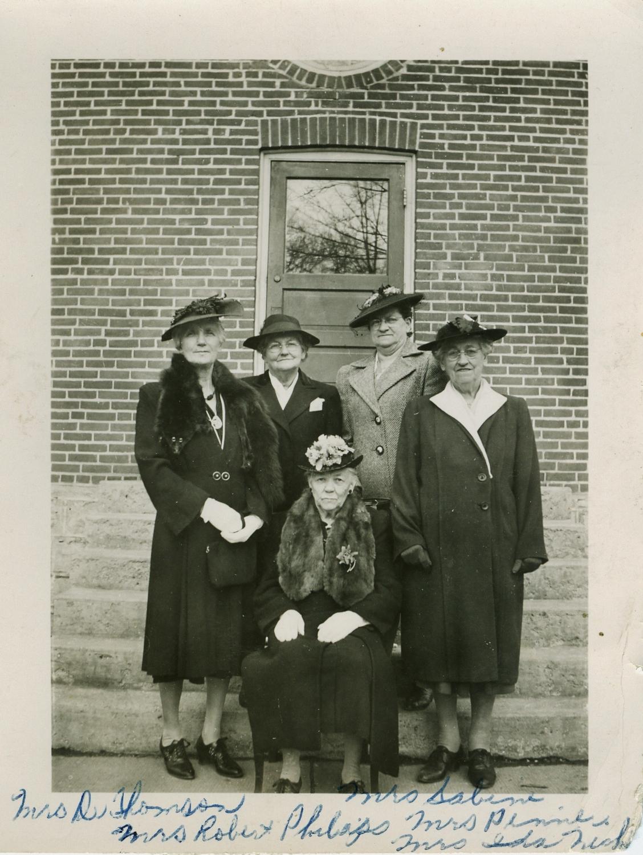 Mrs. Thomson standing far left