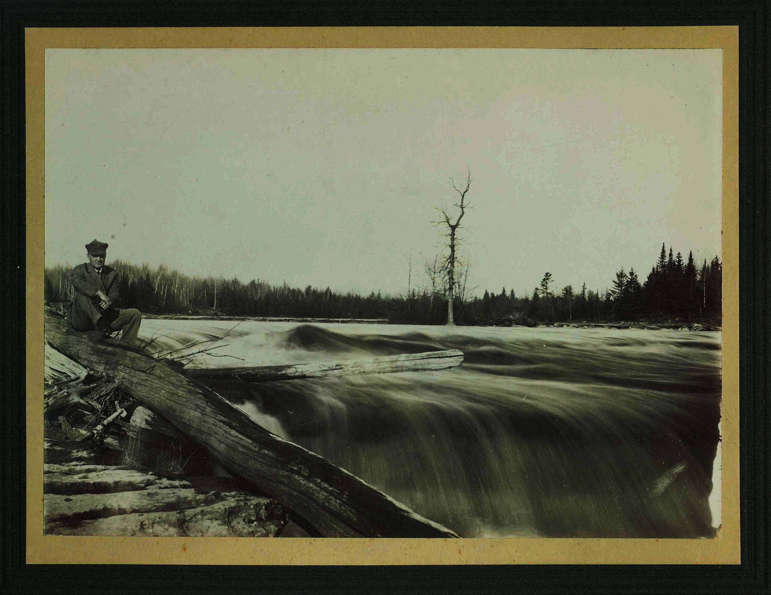The crowe river at marmora before the installation of a dam