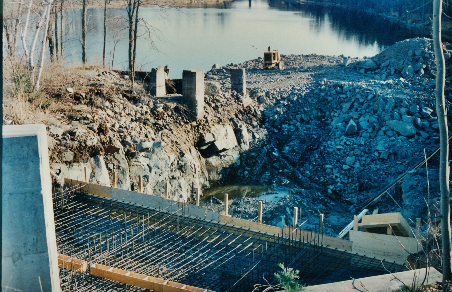 Crowe River, Marmora Dam, building the generating station(4).jpg