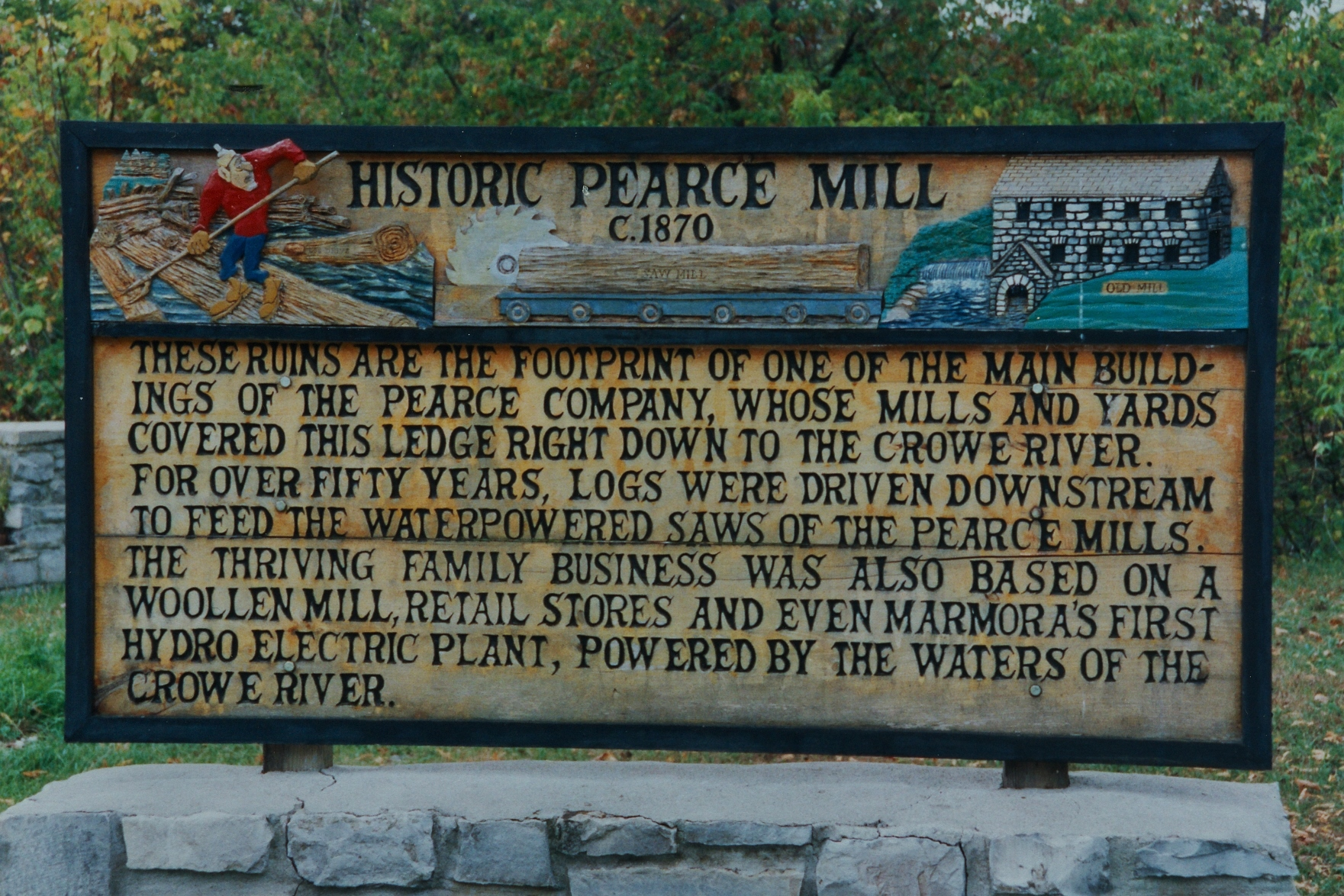 Sign made by clarence Logan of Havelock Ontario