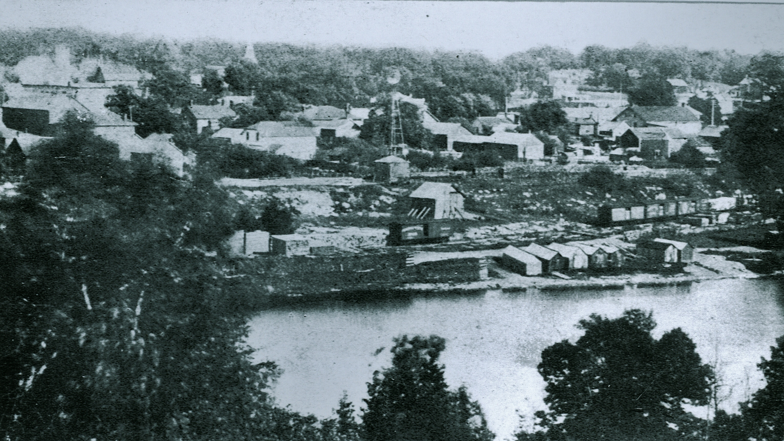 View of Marmora, looking east across Crowe River