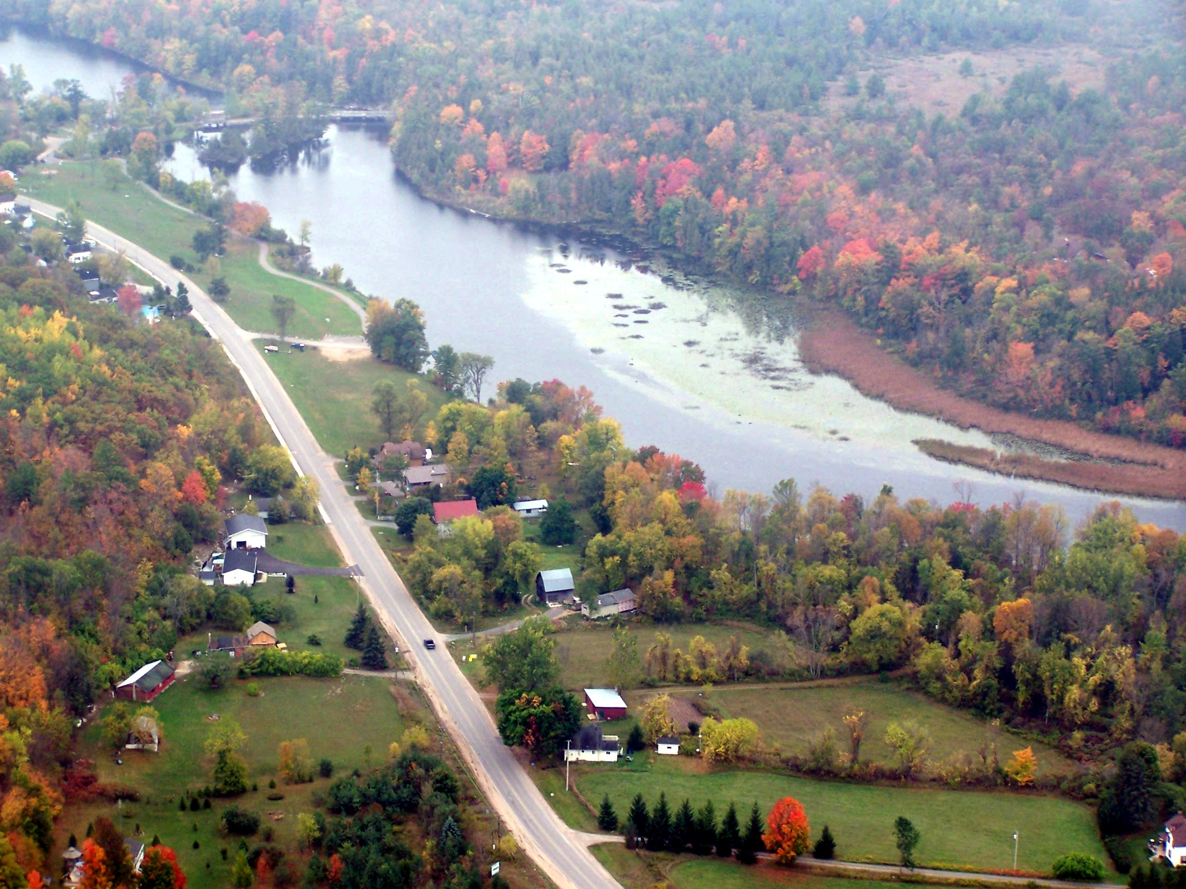 Crowe River, looking south to dam