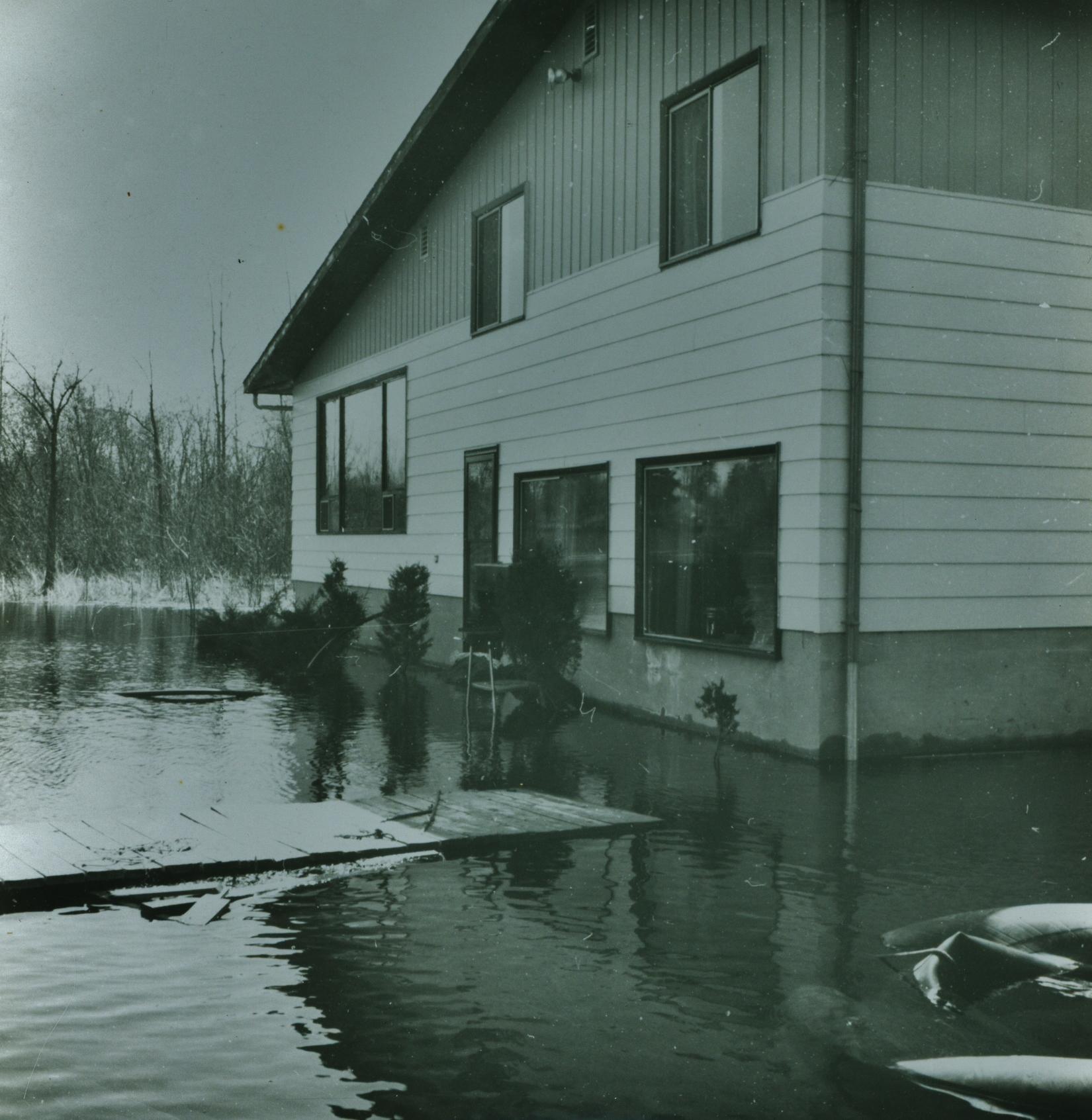 House of Doug & June Vilneff, on Beaver Creek - 1976 Flood