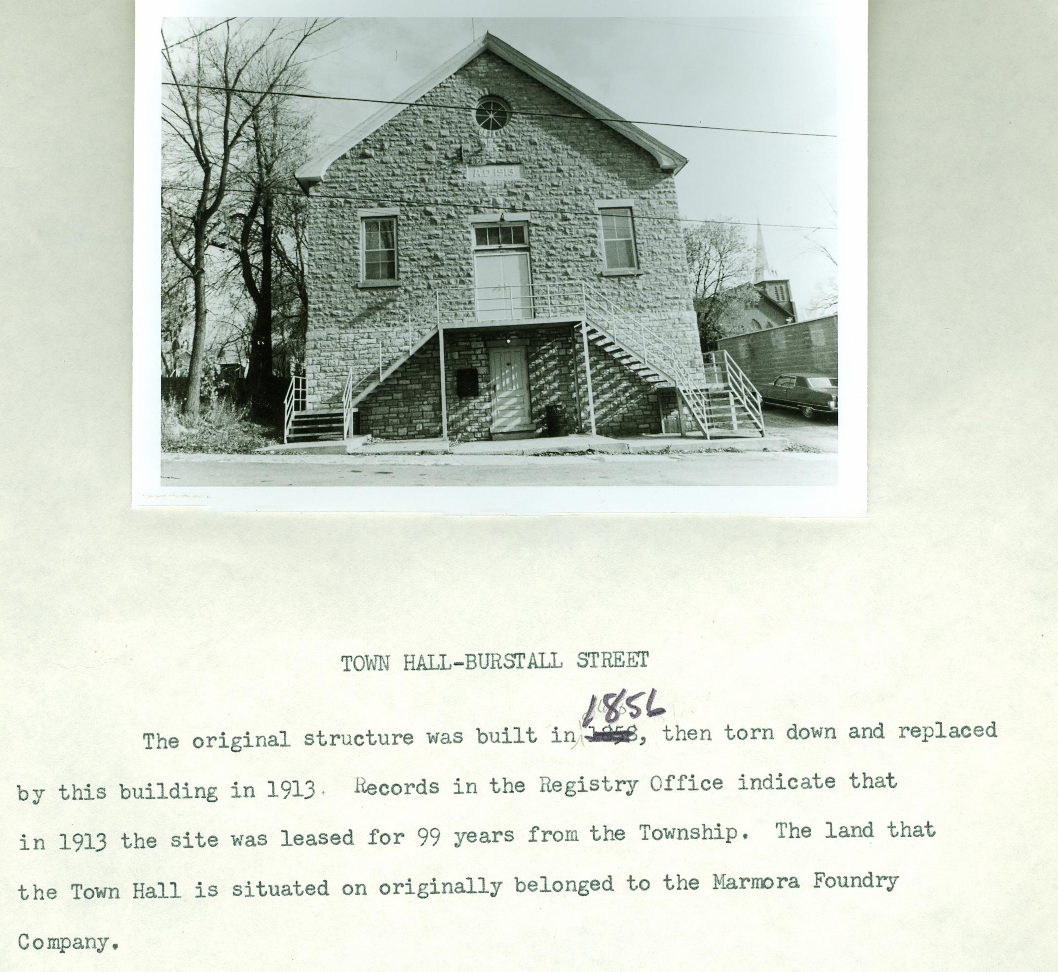 Marmora Town Hall 1913.jpg
