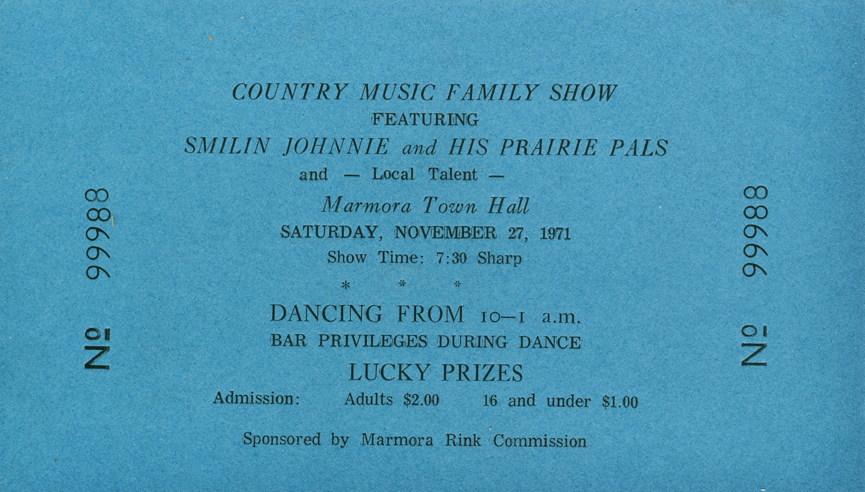 Smilin' Johnnie Country music 1971