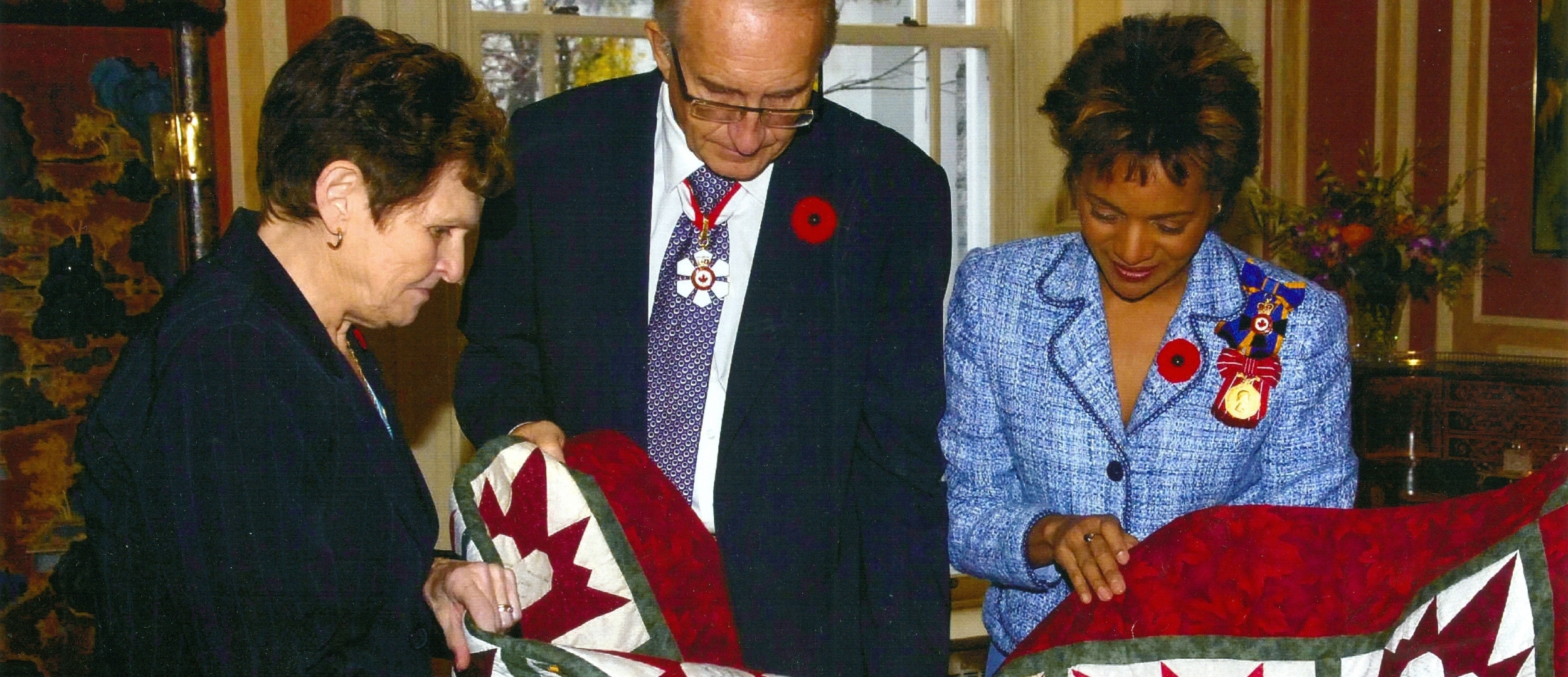 Event,  Quilt donation to  Fallen soldier,Jamie Murphy,  Governor General.jpg