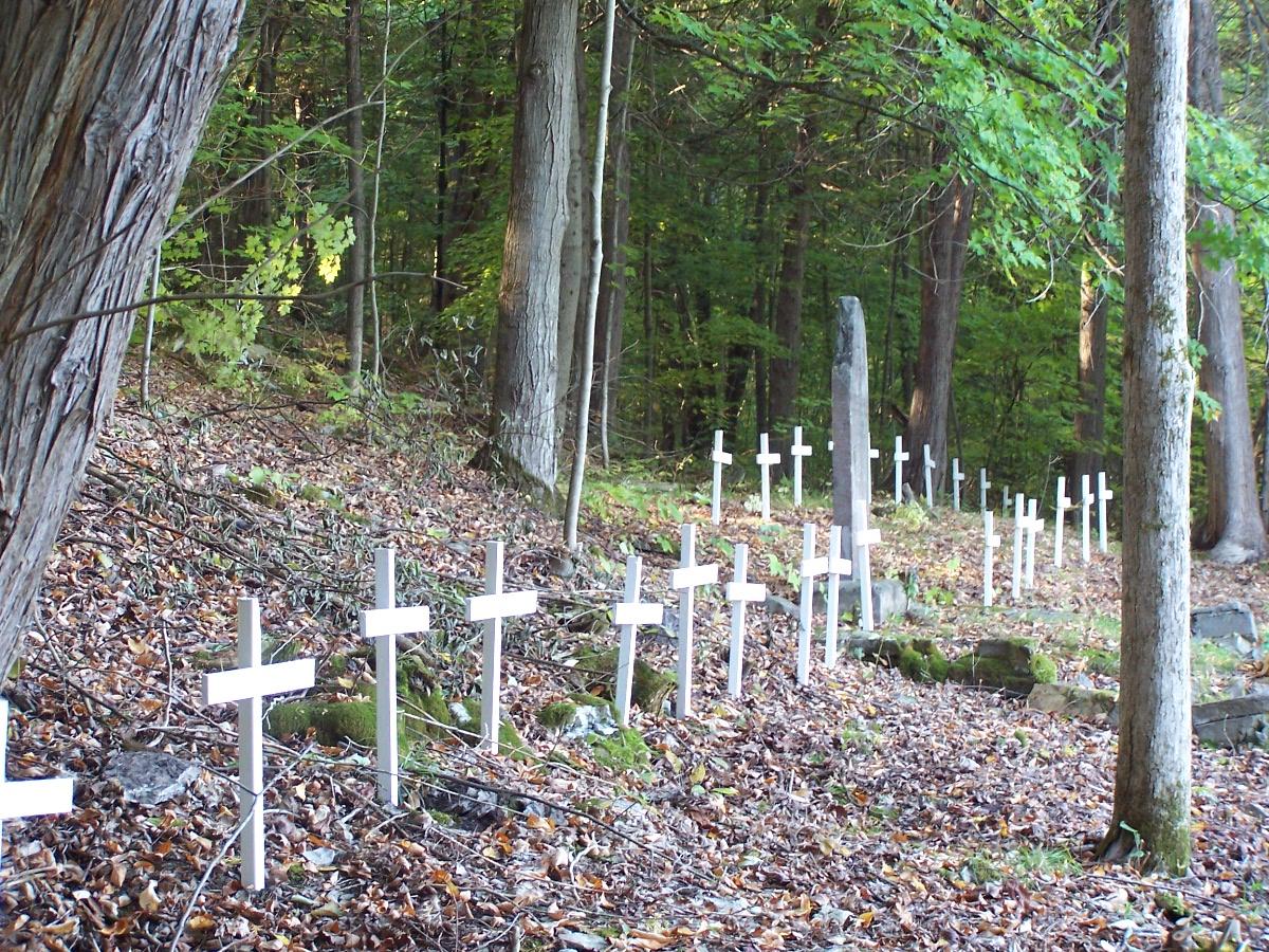 The suspected burial sites at St. Matilda's