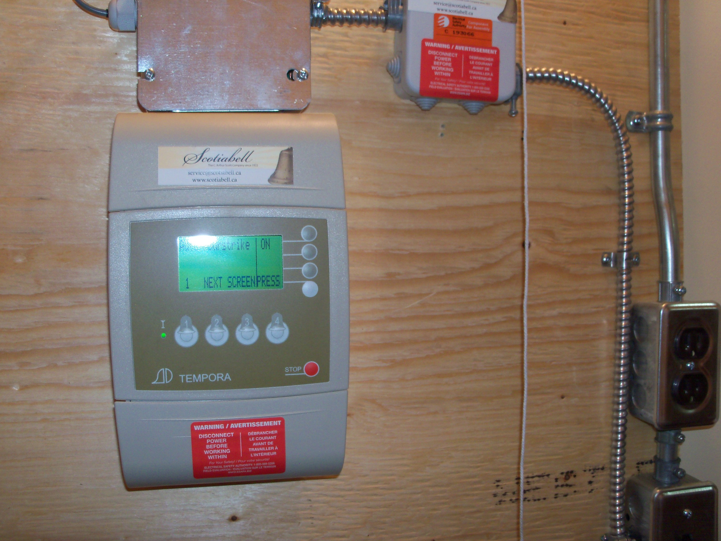 Clock control panel