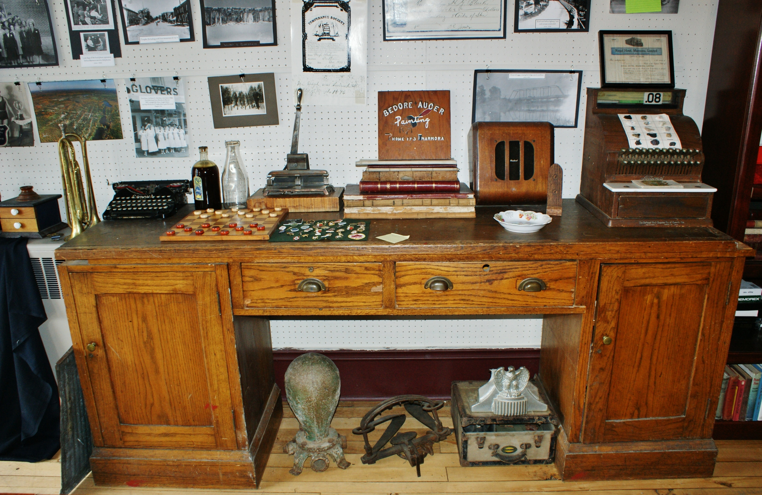 Original post office desk, now located at the Marmora Historical Foundation
