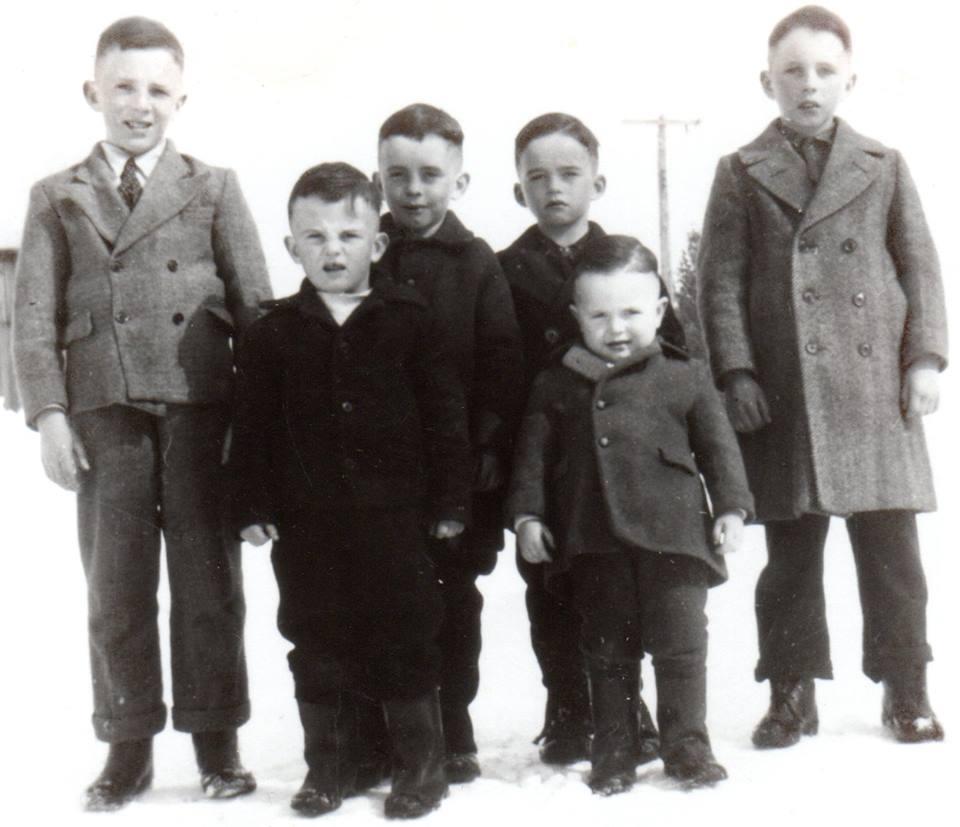 Wilma Bush's six brother sBob, Jack, Jim, Don McKinnon & front row Charlie & Martin McKinnon -