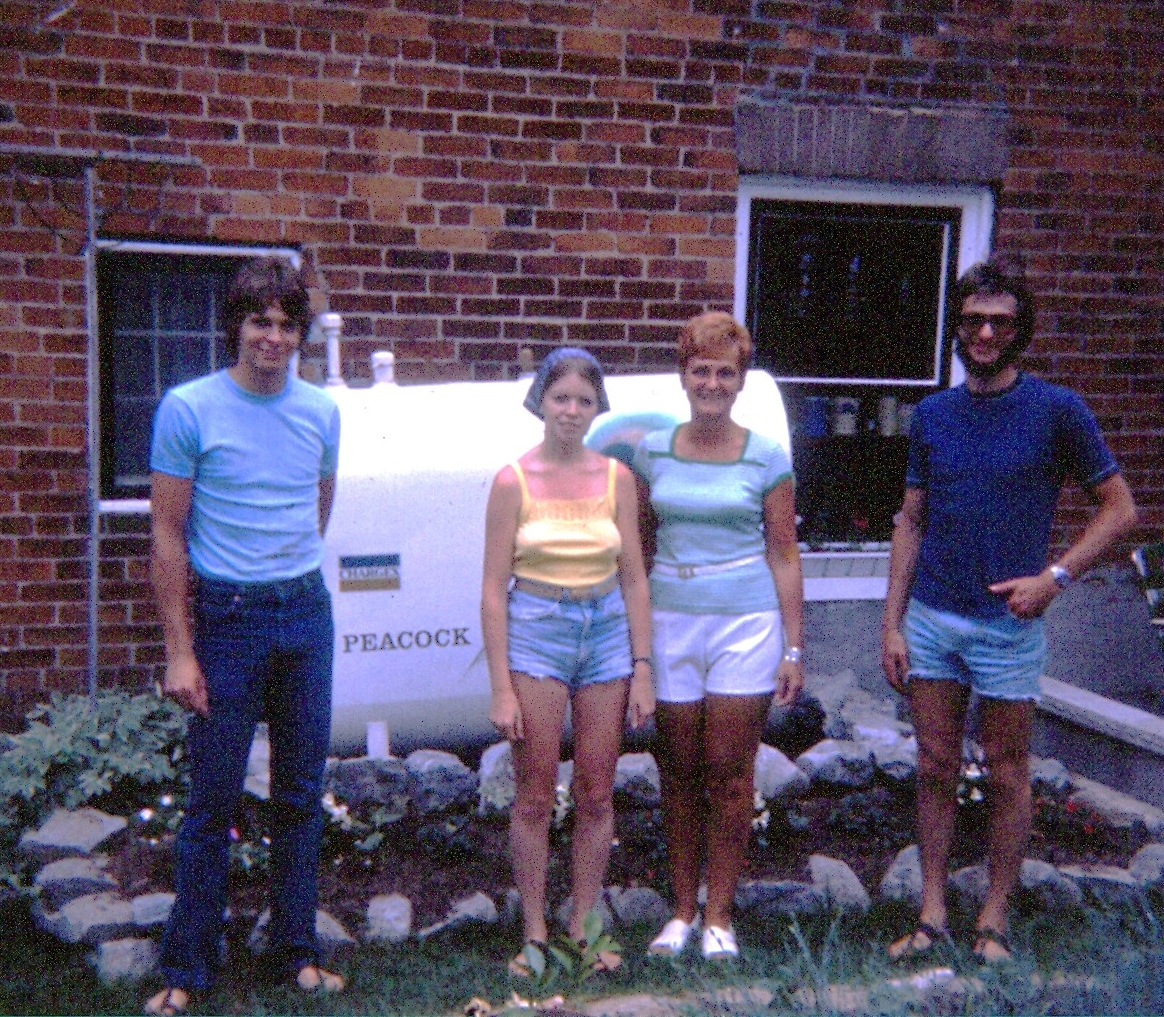 Norma Peacock with her sons, Trevor & Clive and daughter-in-law, Bobbi