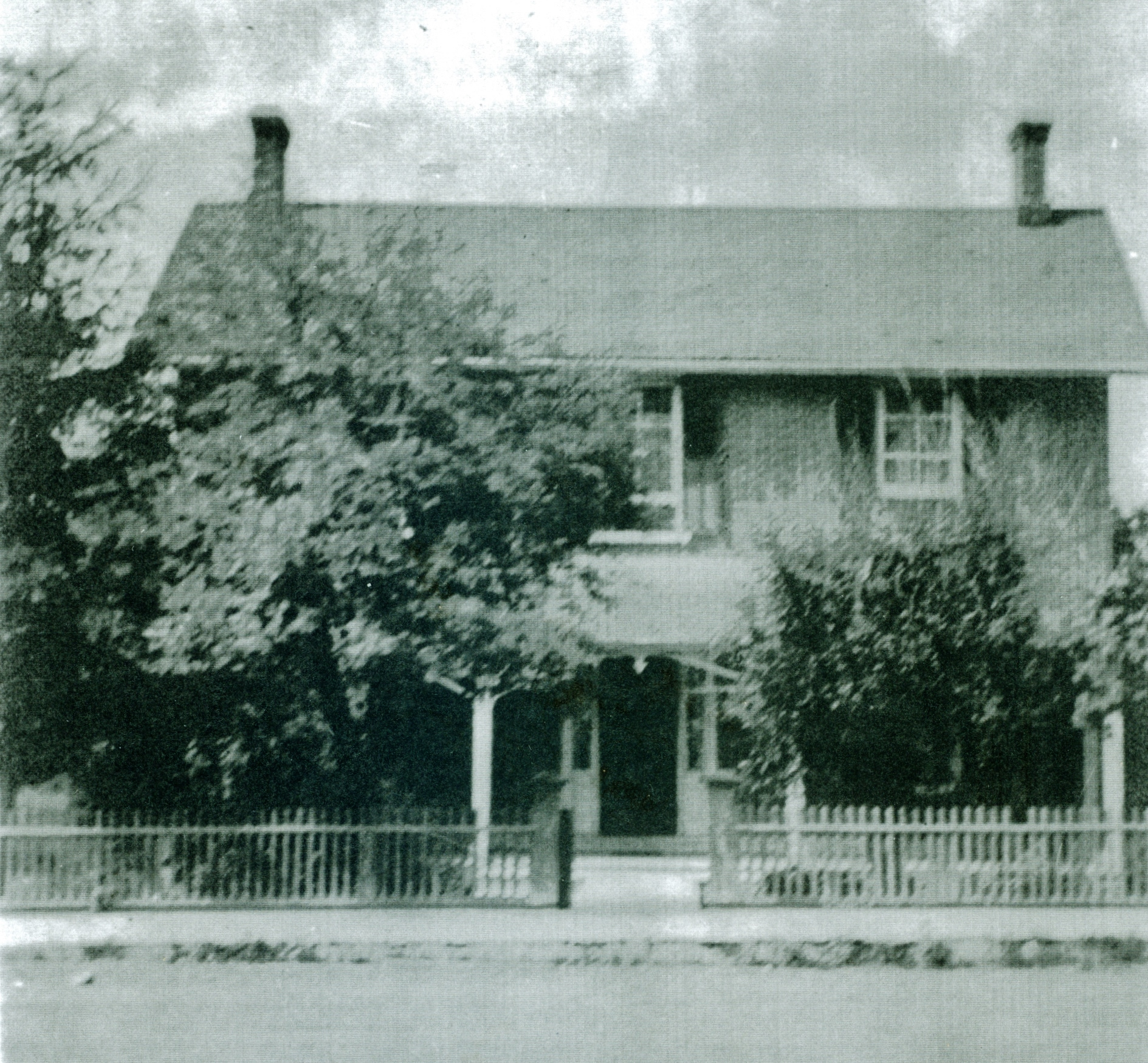George William Bleecker house. 1st brick home in Marmora (beside Parkin House) Later lived in by his son George Bartholomew