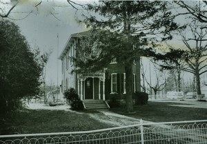 Bleecker ohome on the S.E. Corner of Madoc & Victoria Streets. In the barn at the back of this house, Cpt. Charles Archibald bleecker stored the uniforms for the W.W. 1 recruits.