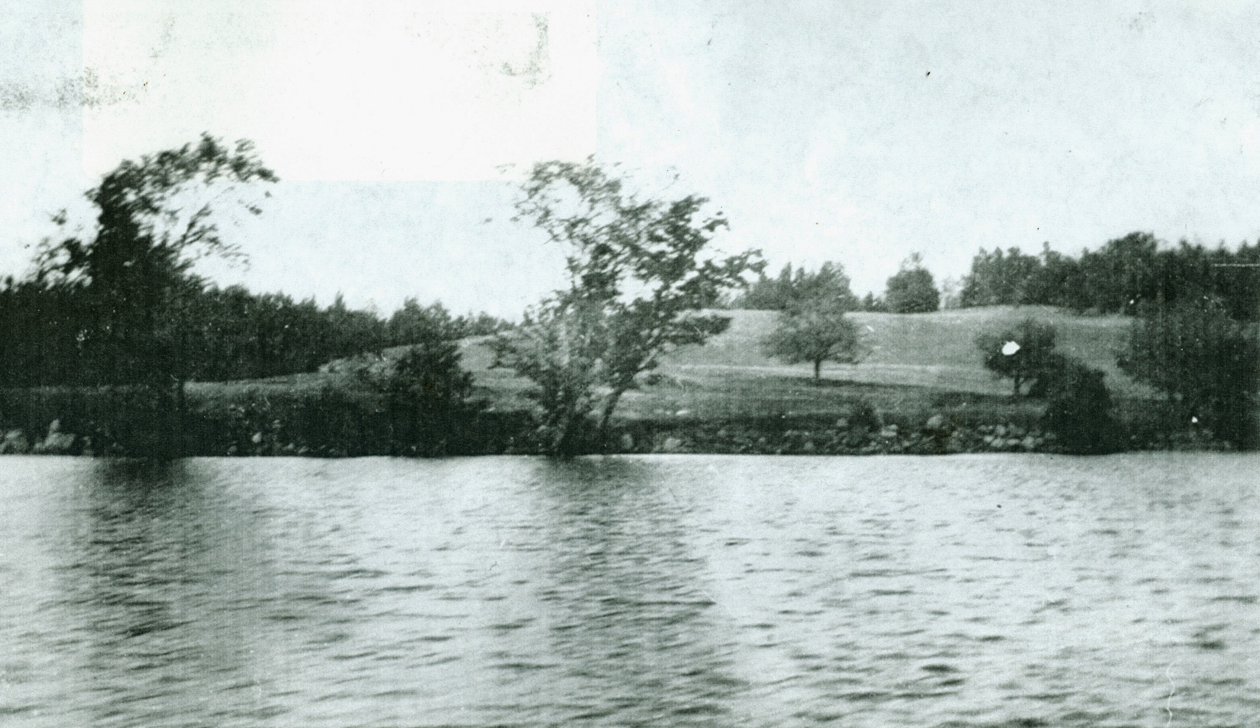 Crowe Lake,  site of Jim Marett's cottage,  south of Marble Point