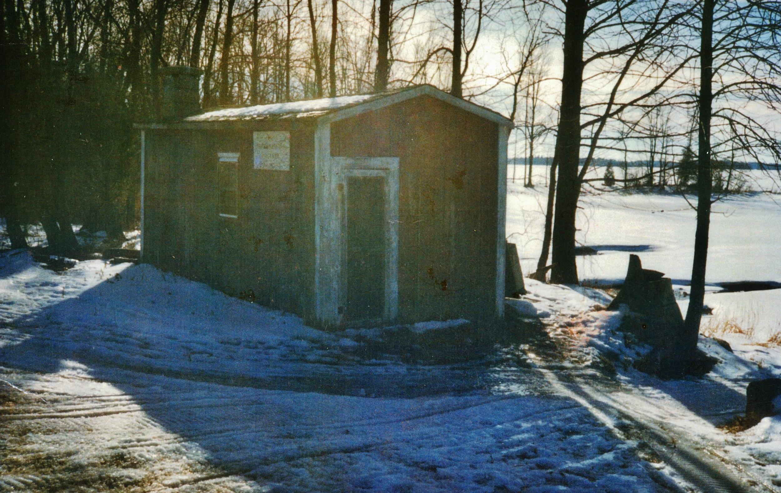 Sauna at Dick Backus' Cove, Marble Point Road, Crowe Lake